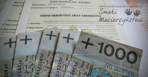 1000 zł na dziecko/12 miesięcy (Kosiniakowe 2016)